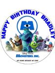 7.5 Personalised Monsters Inc edible icing or Wafer birthday cake top topper